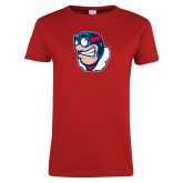 Ladies Red T Shirt-Mascot