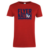 Ladies Red T Shirt-Flyer Nation