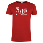 Ladies Red T Shirt-Alumni Design