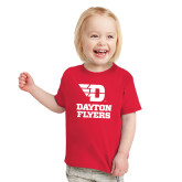 Toddler Red T Shirt-Dayton Flyers Stacked