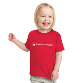 Toddler Red T Shirt-Horizontal University Logo