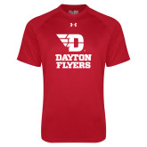 Under Armour Red Tech Tee-Dayton Flyers Stacked
