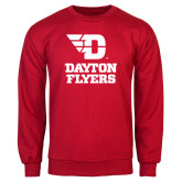 Red Fleece Crew-Dayton Flyers Stacked