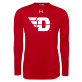 Under Armour Red Long Sleeve Tech Tee-Flying D
