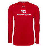 Under Armour Red Long Sleeve Tech Tee-Dayton Flyers