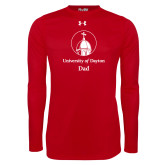 Under Armour Red Long Sleeve Tech Tee-Dad