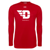 Under Armour Red Long Sleeve Tech Tee-Baseball