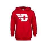 Youth Red Fleece Hoodie-Flying D