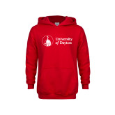 Youth Red Fleece Hoodie-Primary University Logo