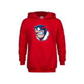 Youth Red Fleece Hoodie-Mascot
