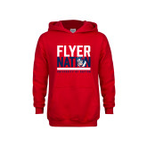 Youth Red Fleece Hoodie-Flyer Nation