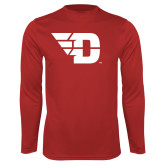 Performance Red Longsleeve Shirt-Flying D