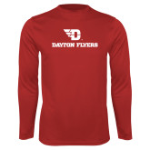 Performance Red Longsleeve Shirt-Dayton Flyers