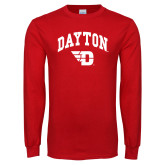 Red Long Sleeve T Shirt-Arched Dayton