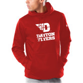 Under Armour Red Armour Fleece Hoodie-Dayton Flyers Stacked