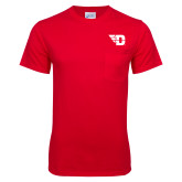 Red T Shirt w/Pocket-Flying D