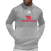 Adidas Grey Team Issue Hoodie-Dayton Flyers