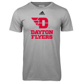 Adidas Climalite Sport Grey Ultimate Performance Tee-Dayton Flyers Stacked