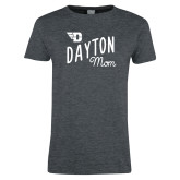 Ladies Dark Heather T Shirt-Mom Design