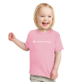 Toddler Pink T Shirt-Horizontal University Logo