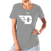 Ladies Under Armour Grey Charged Cotton Tee-Flying D