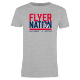Ladies Grey T Shirt-Flyer Nation