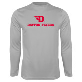Performance Platinum Longsleeve Shirt-Dayton Flyers