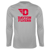 Performance Platinum Longsleeve Shirt-Dayton Flyers Stacked