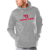 Under Armour Grey Armour Fleece Hoodie-Dayton Flyers