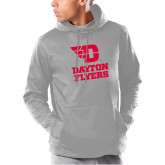 Under Armour Grey Armour Fleece Hoodie-Dayton Flyers Stacked