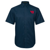 Navy Twill Button Down Short Sleeve-Flying D