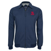 Navy Players Jacket-Dayton Flyers Stacked