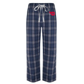 Navy/White Flannel Pajama Pant-Flying D