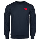 Navy Fleece Crew-Flying D