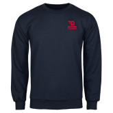 Navy Fleece Crew-Dayton Flyers Stacked