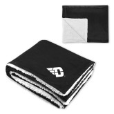 Super Soft Luxurious Black Sherpa Throw Blanket-Flying D