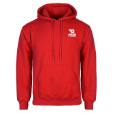 Red Fleece Hoodie-Dayton Flyers Stacked