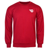 Red Fleece Crew-Flying D