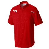 Columbia Tamiami Performance Red Short Sleeve Shirt-Flying D