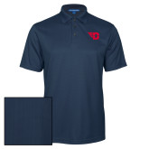 Navy Performance Fine Jacquard Polo-Flying D