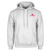 White Fleece Hoodie-Dayton Flyers