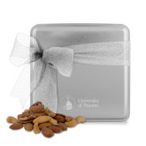 Deluxe Nut Medley Silver Medium Tin-Primary University Logo Engraved