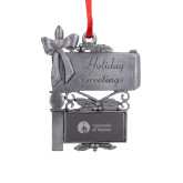 Pewter Mail Box Ornament-Primary University Logo Engraved
