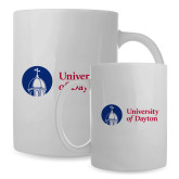 Full Color White Mug 15oz-Primary University Logo