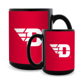 Full Color Black Mug 15oz-Flying D