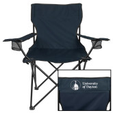 Deluxe Navy Captains Chair-Primary University Logo