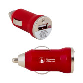 On the Go Red Car Charger-Primary University Logo