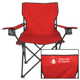 Deluxe Red Captains Chair-Primary University Logo