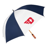 62 Inch Navy/White Vented Umbrella-Flying D