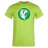Lime Green T Shirt-Bear in Circle